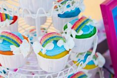 Rainbow/Cloud Cupcakes