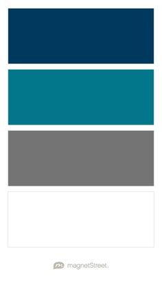 Navy, Peacock, Charcoal, and White Wedding Color Palette - custom color palette created at MagnetStreet.com