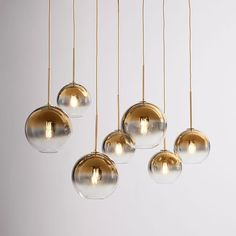 Sculptural Glass Linear Chandelier, S-M Globe, Gold Ombre Shade, Brass Canopy at West Elm Mobile Chandelier, 3 Light Chandelier, Globe Chandelier, Linear Chandelier, Contemporary Chandelier, West Elm Chandelier, Chandeliers, Chandelier Bedroom, Pendant Lights