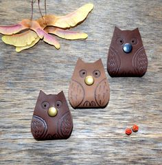 cord organizers Owl  Cord holder  earbud holder leather cable