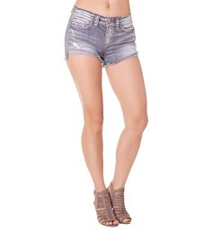 Aiko ripped jean shorts in gray wash #silverjeans