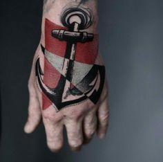 By Timur Lysenko | #Tattoo #Anchor #Geometric #Negative #Design