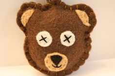 Brown Bear felt keychain by inajuicebox on Etsy, $5.00