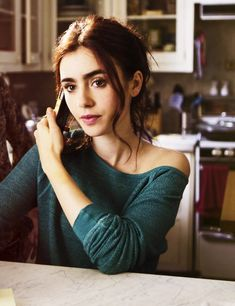 City of Bones, Movie 1 of the Mortal Instruments • Actress, Lily Collins • portrays , Clary Fray • Shadowhunters