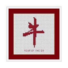 Year of the Ox, Chinese Zodiac Cross Stitch Chart