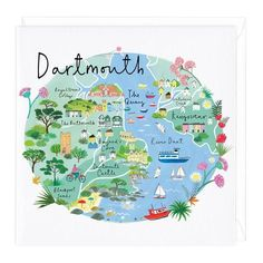 Devon Map Art Print at Whistlefish - handpicked contemporary & traditional art that is high quality & affordable. Framed Maps, Framed Prints, Art Prints, Plymouth Map, Devon Map, Liverpool Map, Cornwall Map, Fowey Cornwall, Wales Map