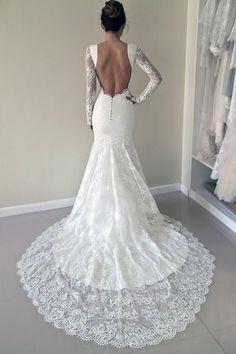 Wedding Dresses 2018, Long Sleeves Wedding Dresses, Mermaid Wedding Dresses, Open Back Wedding Dresses #Wedding #Dresses #2018 #Long #Sleeves #Mermaid #Open #Back #LongSleevesWeddingDresses #WeddingDresses2018 #OpenBackWeddingDresses #MermaidWeddingDresses