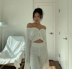 Follow our Pinterest Zaza_muse for more similar pictures :) Instagram: @zaza.muse | white relaxed loungewear. Home outfit.