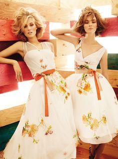 Spring Style: Toni Garrn and Ymre Stiekama for MaxMara Studio's SS 2012