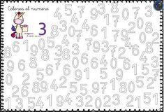 Fichas para trabajar coloreando los números 0 al 9 -Orientacion Andujar