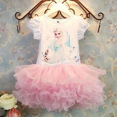 Must get for Eliana's birthday...maybe before!  New-Baby-Girls-Kids-Frozen-Princess-Anna-Elsa-Tutu-Skirt-Party-Dress-Clothes