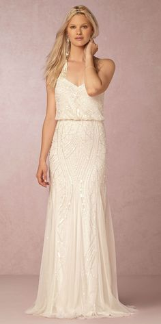 Beaded wedding dress | Grazia Dress from @BHLDN