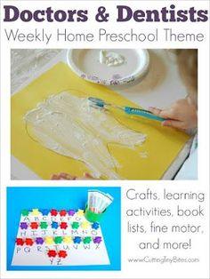 Doctors And Dentists Preschool Theme Week Ideas