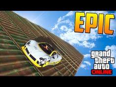 SUPER ULTRA RAMPA EMPINADA!! - Gameplay GTA 5 Online Funny Moments (Carrera GTA V PS4) - YouTube