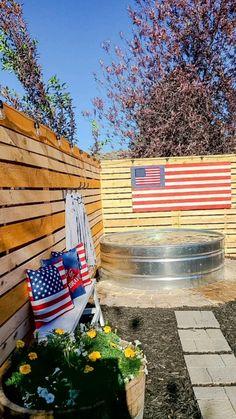 Small Backyard Landscaping, Backyard Ideas, Kid Friendly Backyard, Outdoor Stuff, Outdoor Ideas, Outdoor Decor, Stock Tank, Backyard Makeover, Dream Home Design