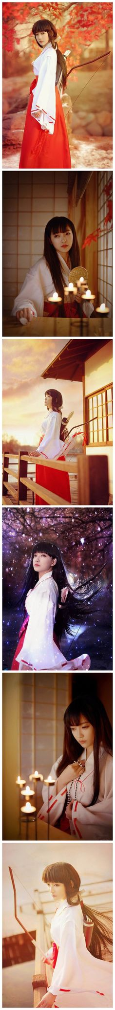The Most beautiful Miko Cosplay—–Kikyo
