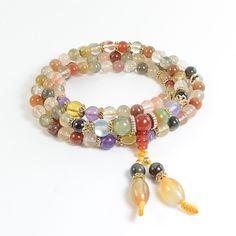 Buddhist Crystal Quartz Mala Bracelet/Necklace                           | Paybackgift