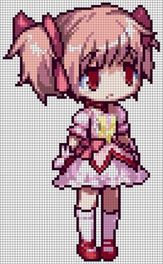 PMMM - Madoka Kaname Pattern by MaddogsCreations on DeviantArt