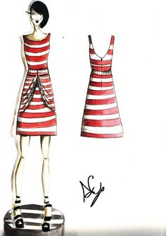 lines by Anly91 www.maisonacademia.com | Fashion Sketches Maison Academia