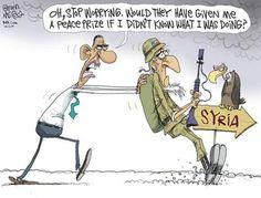 Obama utilizes his Nobel Peace Prize ... Syria.