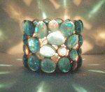Candle Holder  Stained Glass gem Aqua Blue  by Eastvillageartisans, $20.00