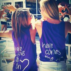 "Chi Omega sisters at ASU... ""here comes the fun"", love that!"