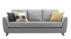 Introducing The Sixty Seven range from G Plan Vintage, designed in collaboration with Hemingway Design. Inspired by the G Plan Vintage archive, The Sixty Seven's low slung appearance is the perfect blend of past and present. With contoured arms and turned wooden feet providing complementing features, The Sixty Seven is as distinctive as it is comfortable.This large sofa, available exclusively at John Lewis, measures H87cm, W208cm and D96cm.