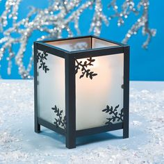 Small Branches Frosted Candleholder - Oriental Trading