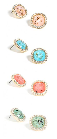 Sparkle studs: Gorgeous & on sale for only $12 (while supplies last) http://rstyle.me/n/du47en2bn