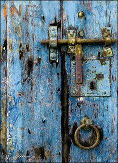 oud e deur met slot