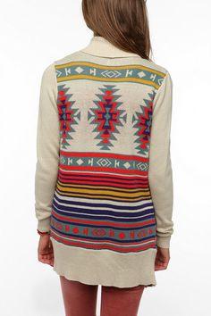 WANT!! Ecote Intarsia Cardigan  #UrbanOutfitters