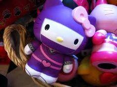 Purple kitty ninja