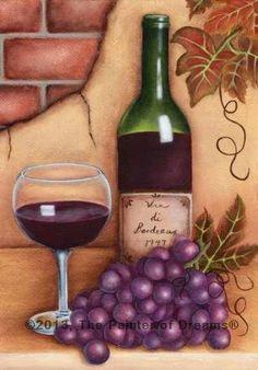 Wine painting by Arkansas artist, Sheri Hart