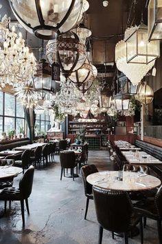 Loving the light that's flooding my living room this morning! Restaurant Design, Restaurant Bar, Modern Restaurant, Stück Pizza, Booth, Art Nouveau, Vogue Living, Chic Bathrooms, London