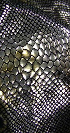 Snake skin foil fabric. www.kurzusa.com