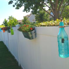 Our DIY tiki torches. Love all the color!