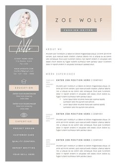 "Reanudar plantilla y carta de presentación + Plantilla de referencias para Word ? La ""Dolce Vita"" Diseño Profesional y Creativo – Дизайн резюме - Lebenslauf Cover Letter Template, Cv Template, Resume Design Template, Cover Letters, Cover Letter Design, Teacher Resume Template, Layout Template, Templates Free, Portfolio Design Grafico"