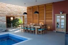 Dining Space | Pool Ideas | Modern Architecture | Lake Furnas | Custom Home | Interior Design