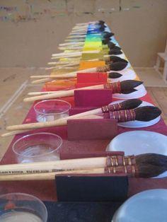 Farbtisch nach Arno Stern Kids Art Class, Art For Kids, Crafts For Kids, Arts And Crafts, Kindergarten Drawing, Montessori Art, Activities For Boys, Art Studios, Art Education