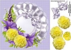 8x8 Lavender And Yellow Floral Spray