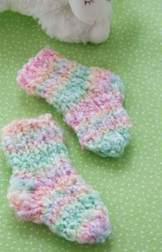 Cozy Toes Socks Free Knitting Pattern from Red Heart Yarns