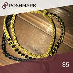 Handweaved Wrap Bracelet Weaved with Beads, Earth Tones and Black Beads. Button Closure #smokefree #handmade #dovajeans Dovajean Jewelry Bracelets