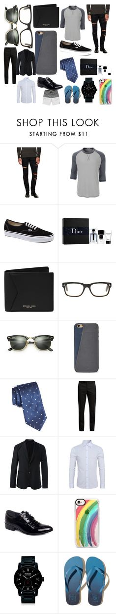 """""""Things I wanna buy"""" by benhemmings on Polyvore featuring Yves Saint Laurent, LE3NO, Vans, Christian Dior, Michael Kors, Tom Ford, Ray-Ban, FOSSIL, Nordstrom and Emporio Armani"""