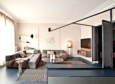 An Apartment In Paris Featuring Pieces From The History Of Design: French Metal Rack by Marcante – Testa Architetti Living Room Designs, Living Spaces, Living Area, Appartement Design, Family Apartment, Metal Rack, Interior Design Studio, Design Interiors, Living Room Interior