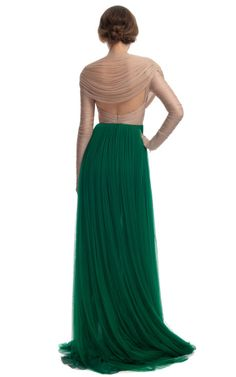Gagagorgeous! Two-Tone Sheer Organza Gown by Delpozo