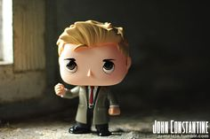Custom Funko POP kitbash/repaint of John Constantine.