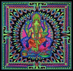 Hippie Good Vibes | Tagged: ganesh hinduism psychedelic trippy art hippie hippies