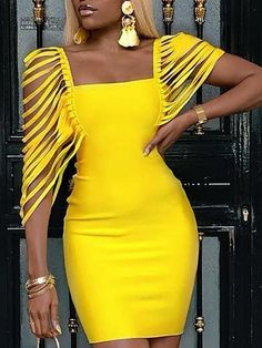 Square Neck Tassel Embellished Bodycon Dress We Miss Moda is a leading Women's Clothing Store. Offering the newest Fashion and Trending Styles. African Attire, African Wear, African Dress, African Party Dresses, Elegant Dresses, Sexy Dresses, Beautiful Dresses, Casual Dresses, Short Dresses