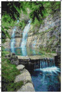 Cross Stitch Pattern Dogwood Canyon Branson by theelegantstitchery
