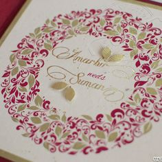 Autumn Invitation suite by createaflutter. Visit us at www.createaflutte... #wedding #custom #invitation #bespoke #stationery #indian
